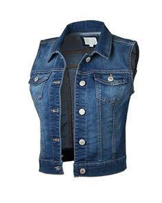 Dream Supply Womens Juniors Sleeveless Button Up Jean Denim Crop Top Jacket Vest Crop Top Jacket, Denim Crop Top, Vest Jacket, Denim Jeans, Crop Tops, Sleeveless Jacket, Spring, Ideias Fashion, Casual Outfits