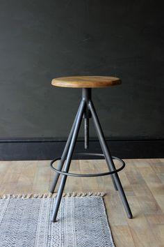 Svalbard Wooden Bar Stool - Charcoal - Stools & Bar Stools - Furniture