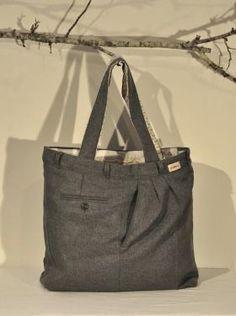 Reciclar unos pantalones viejos, para hacer un bolso...