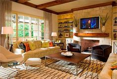 Cozy Transitional Living & Family Room by Mary Anne Smiley on HomePortfolio