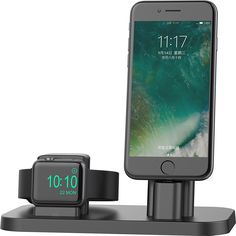 Amazon.com: Apple Watch Stand, BEACOO Charging stand Dock Station -- Support Apple Watch NightStand Mode and iPhone 7/7 plus/SE/5s/6S/PLUS with Various Case (Black): Cell Phones & Accessories