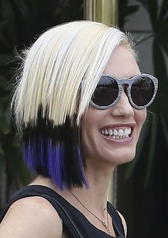 Celebrities often debut a hair change after a breakup and go for a switch that says, Oh, hey, I'm moving on to new things. Gwen Stefani managed to do it after announcing her split with...gwen-stefani-colorful-breakup-hair