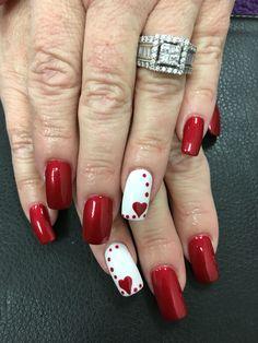 Valentine's Day Nails Gel Polish