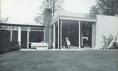 Gerrit Rietveld, the founder of the de Stijl movement: van Dantzig House, Santpoort, Netherlands, 1962