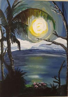 acrylic painting on canvas #sun#sea