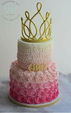 First Birthday Princess Cake by Whipped Up by Mimi Princess Birthday, Edible Art, Cake Designs, Barbie Dolls, First Birthdays, Tart, Desserts, Food, Cake Templates