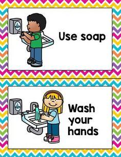 Bathroom Rules by Danielle Dengler Preschool Classroom Rules, Classroom Job Chart, Classroom Rules Poster, Classroom Jobs, Kindergarten Activities, Kindergarten Pictures, Classroom Bathroom, School Bathroom, Bathroom Rules