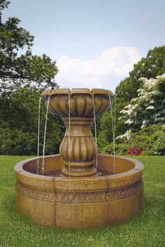 Liven up your landscape with this 23'' Corrazzano Fountain! With its simple yet dramatic design, this beautiful fountain enhances your outdoor space with the natural sounds of flowing water.