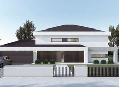 FX-31 - zdjęcie 1 Exterior Design, Interior And Exterior, Modern Family House, Bedroom Bed Design, Architect House, My House, Building A House, House Plans, Villa