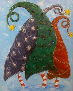 Dr. Seuss Funky Christmas Trees by 4EVAU on Etsy