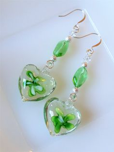 12MM Sterling Silver Plated Gradient Green Faceted Crystal Glass Angel Tears Drop Leverback Earrings