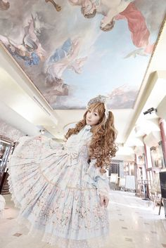 •○~ Sweet lolita, 甘いロリータ♥ Angelic Pretty - dress - bonnet - ribbons - lace - long hair - Rococo - coordinate - cute - pastel - kawaii - Japanese street fashion✮ ~•○