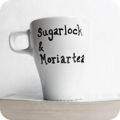 Sherlock Holmes Funny Mug coffee tea cup black white Moriarty mystery literature. $10.00, via Etsy.