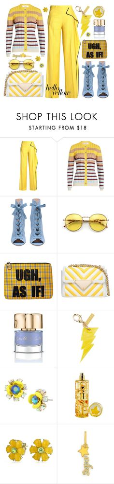 """Pops of Yellow"" by bysc ❤ liked on Polyvore featuring Vionnet, Marni, Current Mood, Sara Battaglia, Smith & Cult, Edie Parker, Betsey Johnson, Lolita Lempicka, Bling Jewelry and Henri Bendel"