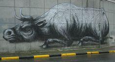 Streetart Ghent, Belgium ROA | Mooistestedentrips.nl
