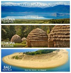 Meet the world in Greece is a project aiming to prove that the whole world can be found in Greece! How weird is that? Well, it seems like Greece has it all. Get amazed! Places Around The World, Travel Around The World, Around The Worlds, Paradise On Earth, Heaven On Earth, Greece Travel, Ethiopia, Nature Photos, Countryside