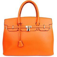 "Designer Inspired Purses ""Hermes Birkin -Similar Style"" London Office Tote Large Size in Orange Alyssa,http://www.amazon.com/dp/B00BHOWYJS/ref=cm_sw_r_pi_dp_2vsrrb17Y2BG6DY0"