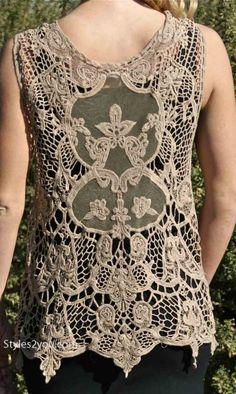 AP Loretta Lyn Vintage Vest In Brown