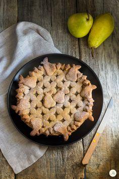 Crostata con frolla veg e confettura di pere