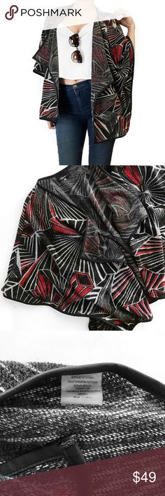 Anthropologie sugar lips tribal print cardigan Super chic oversized cardigan in cool tribal print by sugar lips at anthropologie. One of those one size fits most type of pieces but labeled a medium on tag. No trades. All photos are of actual item. Always open to offers Anthropologie Tops
