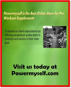 The best pre workout supplements can supercharge your strength, endurance, focus, and muscle pump. You'll find, however, limitless variety of pre workout supplements products from which to choose. Click here: http://www.powermyself.com/type/pre-workout.html