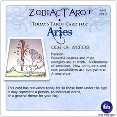Daily tarot card for Aries from ZodiacTarot! Have you seen your Love Scope this week?  Visit iFate.com now!
