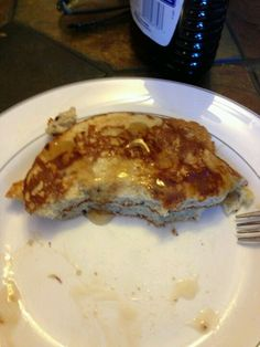 Herbalife Pancakes! 2 scoops PDM, 2 scoops F1 and 1 cup egg whites.