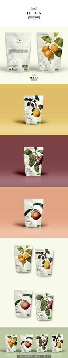 Ilios dried fruits by Dimitris Kostinis food packaging Fruit Packaging, Cool Packaging, Food Packaging Design, Bottle Packaging, Packaging Design Inspiration, Brand Packaging, Branding Design, Web Design, Label Design