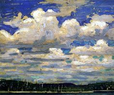 Summer Day, Tom Thomson, Group of Seven, Canadian artist Group Of Seven Art, Group Of Seven Paintings, Paintings I Love, Emily Carr, Canadian Painters, Canadian Artists, Tom Thomson Paintings, Art Nouveau, Famous Artists