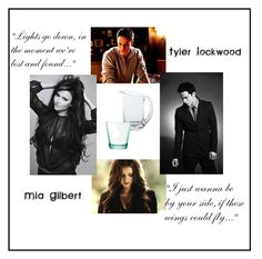 """Tyler Lockwood and Amelia Gilbert"" by the-vampire-diaries-07 ❤ liked on Polyvore featuring art"