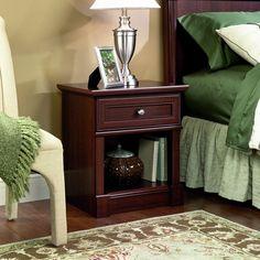 Amazon.com: Sauder Palladia Night Stand, Select Cherry Finish: Home & Kitchen