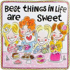 Dit vrolijke blik Best things heeft erg vrolijke kleurrijke illustraties en maakt hierdoor jouw tafel nog gezelliger!