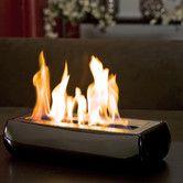 Beautiful on black glass coffee table. Found it at AllModern - Avani Portable Bio Ethanol Fireplace Tabletop Fireplaces, Bioethanol Fireplace, Fireplace Mantels, Fake Fireplace, Modern Fireplaces, Mantle, Lofts, Portable Fireplace, Fireplace Remodel