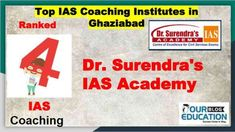 Rank wise Top IAS Coaching Centres in Ghaziabad offering various courses like - UPSC, MPSC, CSAT including their past performance and contact details. Online Test Series, Online Tests, Ias Notes, Civil Service, Study Materials, Computer Science, Coaching, Teacher, Student