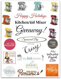 KitchenAid Mixer Holiday Giveaway (US & Can) - Simply Stacie
