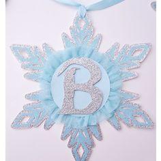 Frozen or Winter Wonderland Theme Snowflake by HOCDesignsMarket, $50.00