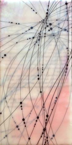 Katie C Gutierrez Dot Line, Line Art, Doodle Art, Wax Art, Line Patterns, Encaustic Painting, Mixed Media Art, Abstract Lines, Abstract Art