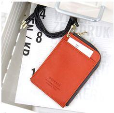 Leather Zipper Card Wallet