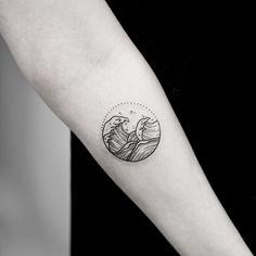 <3 wave tattoo! by Joice Wang, Bang Bang NYC