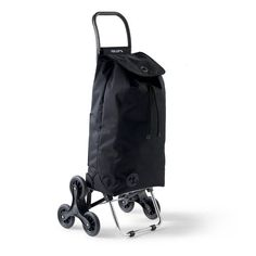 Toting anything from groceries to your latest mall haul just got easier thanks to the Rolser RD6 Shopping Trolley. Unlike other trollies, a unique six-wheel design allows this easy-to-fold trolley to effortlessly climb stairs, making it perfect for both city and estate living. Nylon bag attached by Velcro to light aluminum frame Interior and exterior pocket Flat tray bottom with foldable base for additional support ...