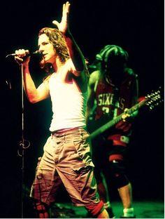 Eddie Vedder and Jeff Ament