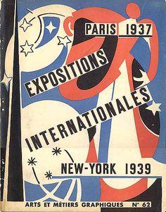 """Magazine """"Arts et Métiers Graphiques, N°62 - Expositions Internationales Paris 1937, New York 1939,"""" March 1938. Couverture : André Beudin."""