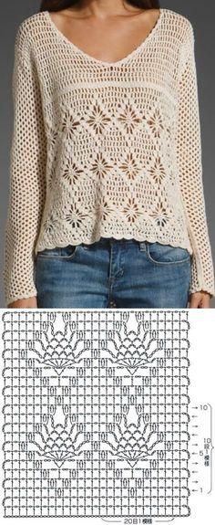 Crochet Stitches Chart, Thread Crochet, Crochet Patterns, Crochet Cardigan Pattern Free Women, Crochet Poncho, Crochet Fashion, Knitting Designs, Crochet Clothes, Couture