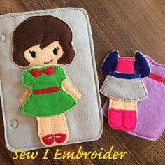Dress Up Dolly Quiet Book Add On Page от SewIEmbroider на Etsy