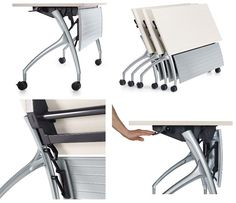 Mobile flip top training tables from the Global Total Office 2gether collection: http://www.officefurnituredeals.com/2gether-Flip-Top-Training-Room-Table-by-Global-p/gl-it1848rx.htm