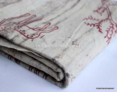 2.5 Yard Indian Dabu Print Pure Cotton Hand Block Print Fabric 012 #Handmade