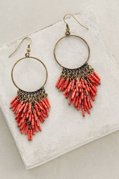 How to wear the Anthropologie Embroidered Bluebell Dress: Add these Anthropologie Canna Earrings.