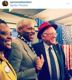 Bernie at the Apollo Theater in Harlem
