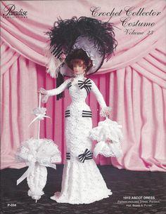 Crochet Pattern 1910 Ascot Dress Crochet by KnitKnacksCreations