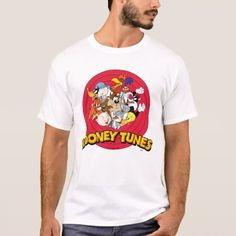 Shop LOONEY TUNES™ Character Logo T-Shirt created by looneytunes. Personalize it with photos & text or purchase as is! Pose, Looney Tunes Characters, T-shirt Logo, Logo Nasa, Tshirt Colors, Cool T Shirts, Colorful Shirts, Fitness Models, Shirt Designs